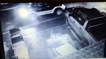 CCTV footage of attempted theft
