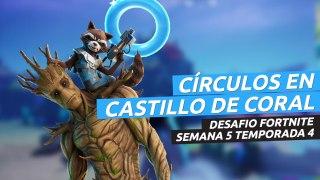 Dónde están los círculos flotantes en el Castillo Coral en Fortnite semana 5 temporada 4
