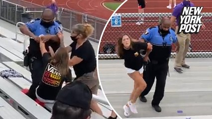 Woman arrested, tased for not wearing mask at middle school football game
