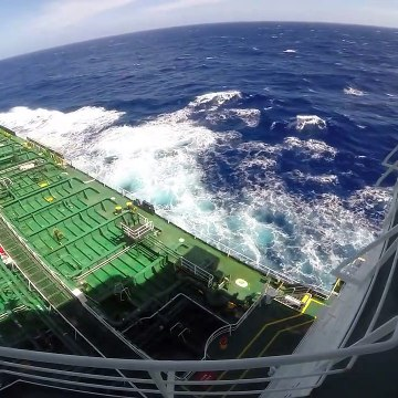 Ship rolling _ Life at Sea _ Living on tanker