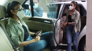 Rakul Preet Singh leaves from home for NCB office; Watch Video | FilmiBeat