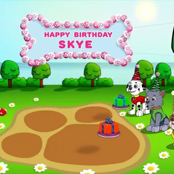 Paw Patrol Skye's Birthday and Cooking Contest Animations for Kids