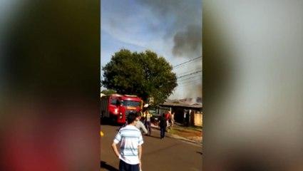 Corpo de Bombeiros é acionado para atender ocorrência de incêndio em edificação