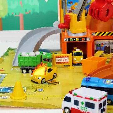 Learning Colors and Vehicles Video for Toddlers and Kids - Tayo Playsets and Amusement Park Toys