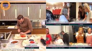 Tous en cuisine : Cyril Lignac un peu embarrassé par la tentative de drague de Séverine Ferrer