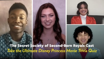 Watch the Secret Society of Second-Born Royals Cast Hilariously Quiz Each Other on Disney Movies