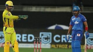 Dhoniயின் DRS தோல்வி! Prithvi Shaw Wicketஐ கோட்டை விட்ட Chennai   Oneindia Tamil