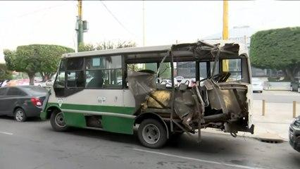 Accidente de transporte público deja varios lesionados en alcaldía Venustiano Carranza