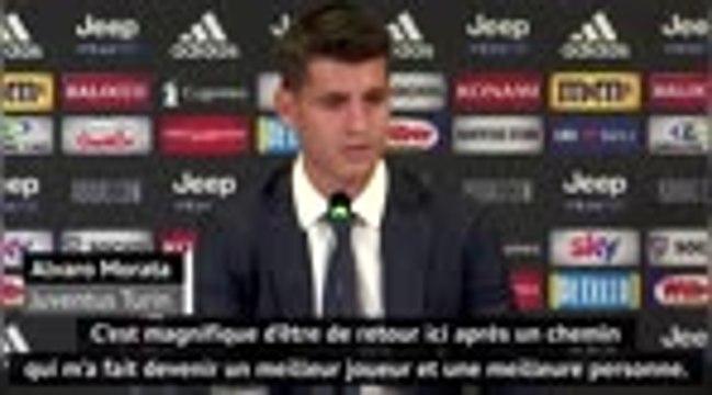 """Serie A - Morata : """"Magnifique d'être de retour à la Juventus"""""""