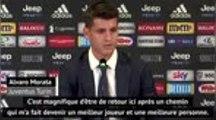 """Serie A - Morata : """"Magnifique dêtre de retour à la Juventus"""""""