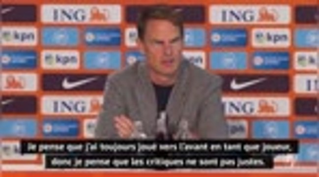 """Pays-Bas - De Boer : """"Convaincu que je peux être un grand manager"""""""