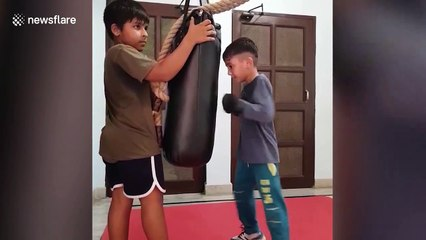 Seven-year-old boy sets Asian record for most punches thrown in one minute