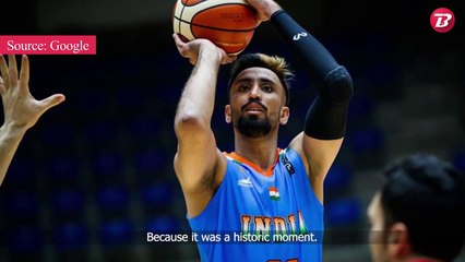 INDIA -  National team basketball star Amjyot Singh Gill is shooting for the Olympics