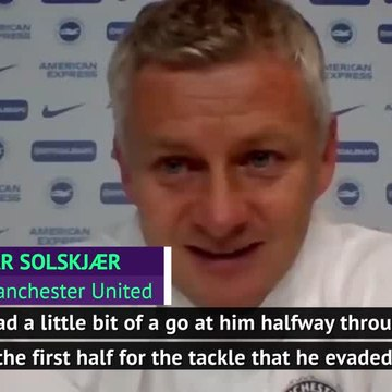 Solskjaer gave Rashford a telling off before scoring