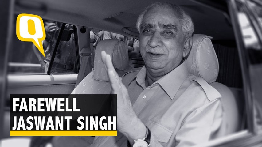 RIP Jaswant Singh: Former Minister, Outstanding Parliamentarian