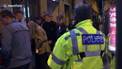 Chaos on UK streets at closing time on first Saturday since 10 pm curfew
