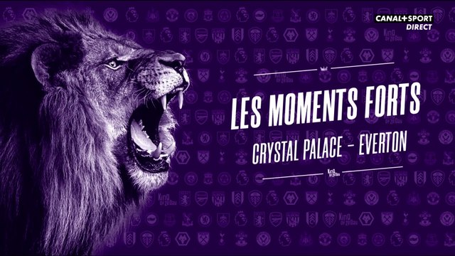 Les moments forts de Crystal Palace - Everton