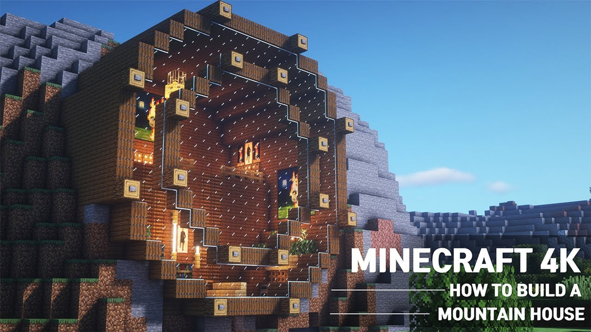 Minecraft - MOUNTAIN HOUSE TUTORIAL|How to Build in Minecraft (#9)