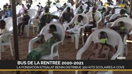 Bus de la rentrée 2020-2021: la Fondation Etisalat Bénin distribue 300 kits scolaires à Covè