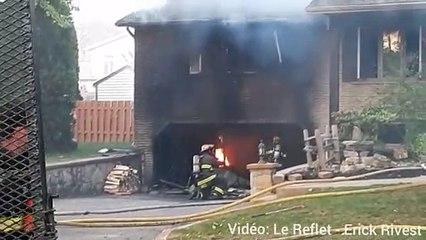 Incendie sur Place Calais à Candiac