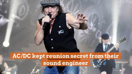 A Surprise For The Sound Engineer Of ACDC