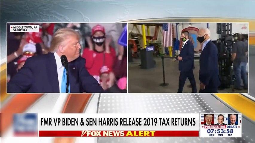 #NEWS  Biden, Harris release 2019 tax returns ahead of debate