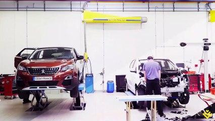 Crash test de la nouvelle Renault Zoé au Cesvi France (Poitiers)