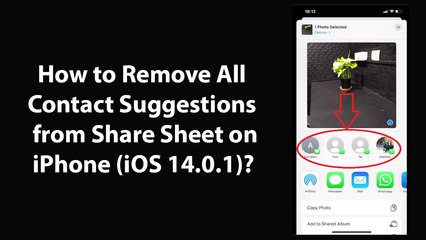 How to Remove All Contact Suggestions from Share Sheet on iPhone (iOS 14.0.1)?