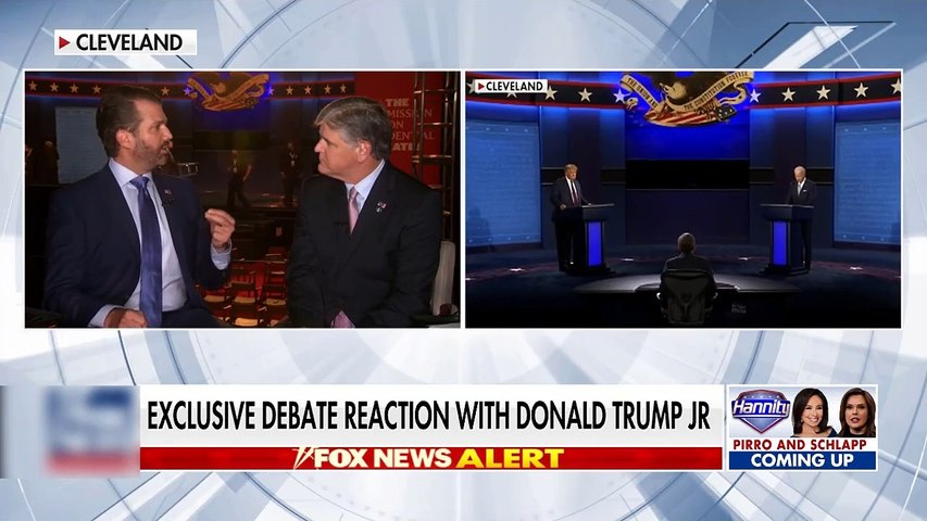 #NEWS  Don Jr gives exclusive reaction to the presidential debate
