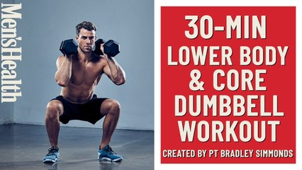 30-Minute Lower Body and Core Dumbbell Workout