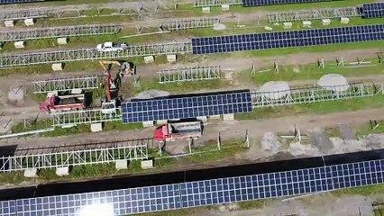 Panneaux solaires La Prairie (Gracieuseté Hydro-Québec)