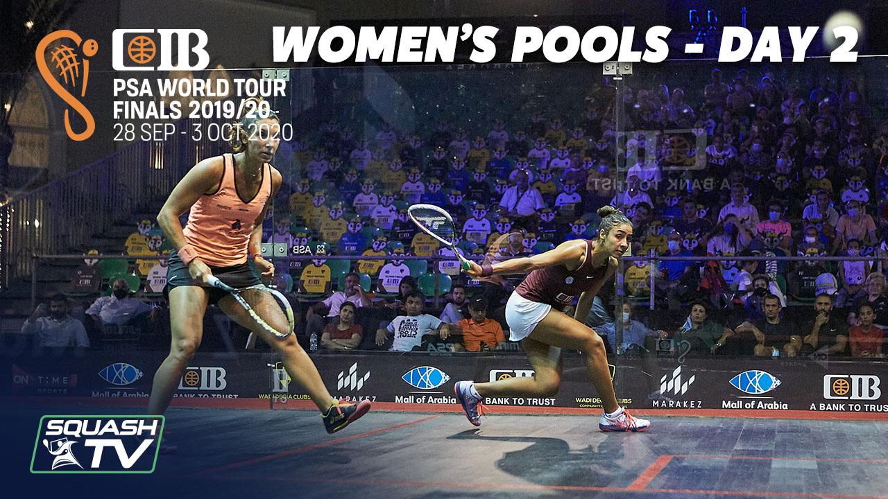 Squash: CIB PSA World Tour Finals 2019-20 – Women's Pools Day 2 Roundup