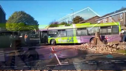 Bus ploughs into garage in Cross Gates
