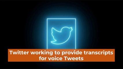 Twitter Is Adding Transcripts