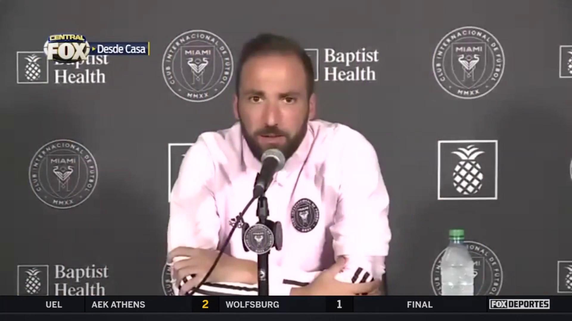 """""""La MLS siempre me sedujo"""", Gonzalo Higuaín: MLS"""