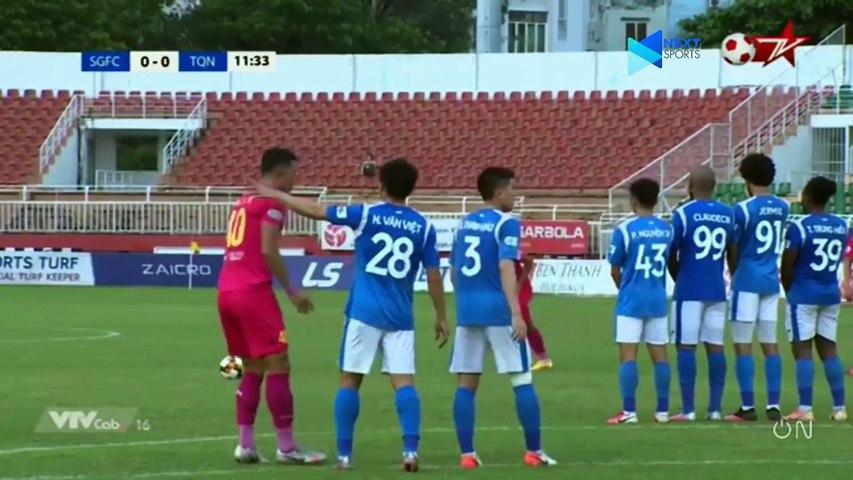Highlights - Sài Gòn FC - Than Quảng Ninh - Hai Long đá phạt rung chuyển xà ngang - NEXT SPORTS