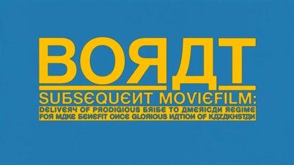 BORAT: Subsequent Moviefilm (2020) Trailer VO - HD