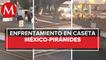 A balazos se enfrentan grupos en la caseta de la México-Pirámides