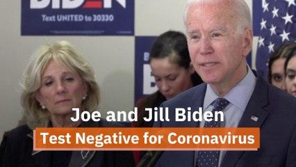 Joe Biden Tests Negative
