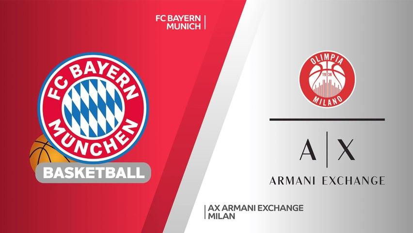 FC Bayern Munich - AX Armani Exchange Milan Highlights | Turkish Airlines EuroLeague, RS Round 1