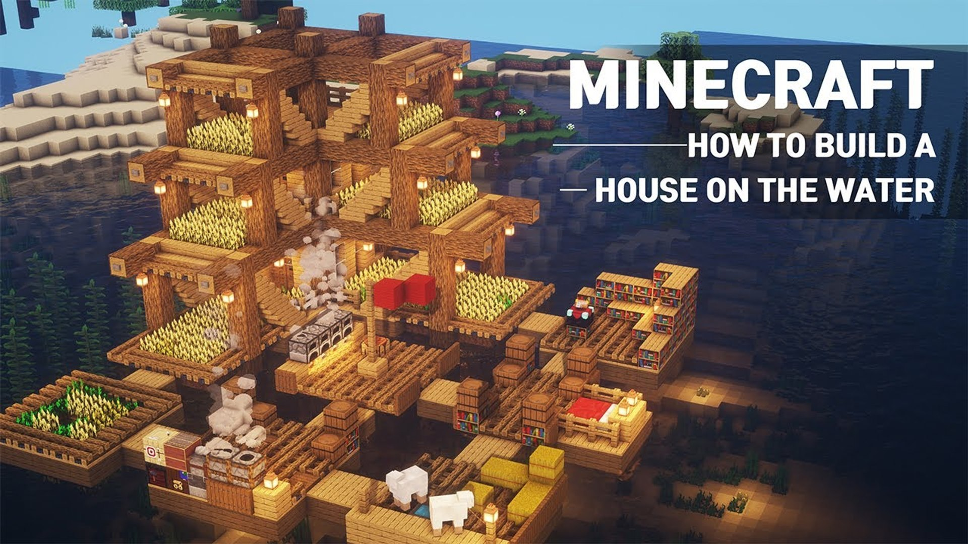 How to Build a Survival House on Water in Minecraft - House Tutorial #12