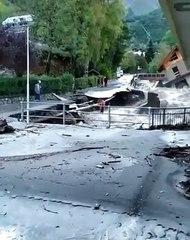 Situazione drammatica a Limone Piemonte, casa crolla in un torrente