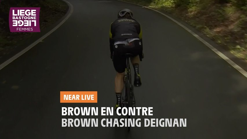 Brown en contre / Brown chasing Deignan - Liège-Bastogne-Liège Femmes 2020