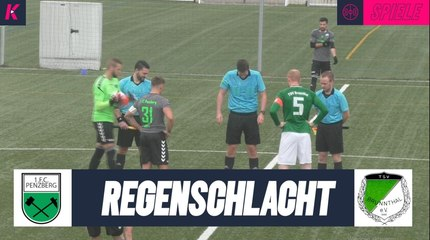 Regenschlacht im Topspiel | 1.FC Penzberg - TSV Brunnthal (Bezirksliga Süd)