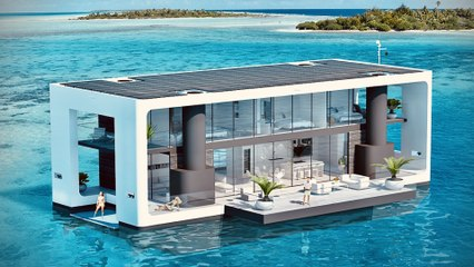 World's First Solar Powered Floating Mansion - Yacht~ Luxury Off Grid Living