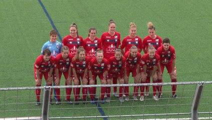 Féminines R1 (J2) : Les buts (M.Delafosse, E.Giffaut, Manon Dubos, CSC, R.Philippe et A.Leroty) du match SMCaen 6-0 Evreux FC