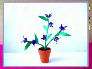 Blue Belladonna Origami Flower