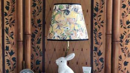 Make Any Lamp Shade Look Totally High-End With This Easy DIY