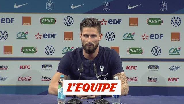 Giroud : «Egaler Michel Platini» - Foot - Bleus