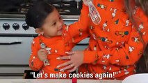 Kylie Jenner Halloween Cookies with Stormi